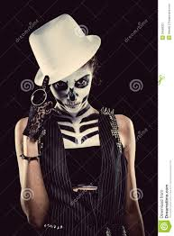 skeleton face for halloween woman with skeleton face art stock image image 34688201