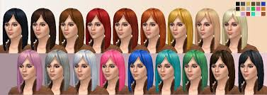 child bob haircut sims 4 angled long bob hairstyle for adults teens and children for sims