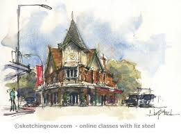 new sketching architecture workshops in melbourne and sydney liz