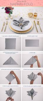 how to fold table napkins folding table napkins with ring folding table ideas
