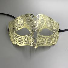 mardi mask luxury metal filigree laser cut men venetian masquerade eye