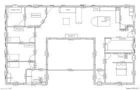 plan de maison plain pied 4 chambres plan maison plain pied 4 chambres avec suite parentale en l schema 5