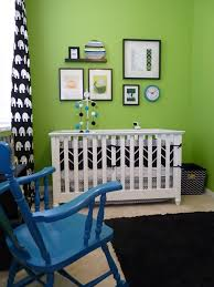 black white and very bright rockers nursery and babies