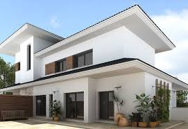 painted houses sleek modern home supported with white exterior paint working with