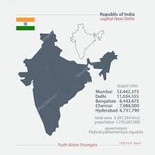 New Delhi India Map by Republic Of India Isolated Maps And Official Flag Icon Vector