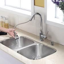 Tall Kitchen Faucet Stainless Steel Kitchen Sink Combination Kraususa Com