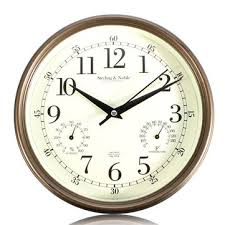 silent wall clocks vintage silent wall clock temperature humidity thermometer
