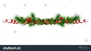 christmas festive poinsettia christmas tree decor stock vector