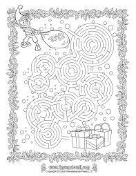 christmas maze printable christmas printables