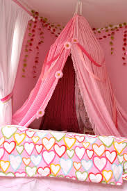 Shabby Chic Voile Curtains by Pink White Girls Bed Canopy Princess Shabby Chic Crown Voile