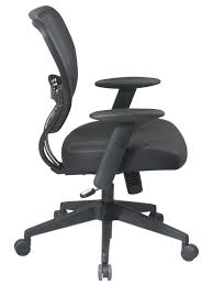 Office Chair Side View 5700 Office Star Air Grid Mesh Back Task Chair With Leather Seat