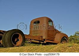 rusty pickup truck rusty old pickup truck a very rusty old truck cab without a