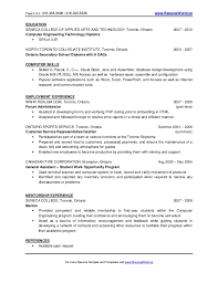 Examples Of College Graduate Resumes by New Graduate Resume
