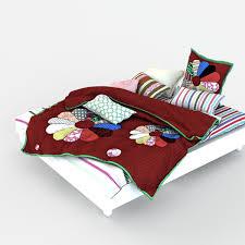 double bed bed linen by lvitsa 3docean