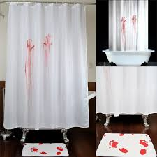 bloodstain bloody palm sole prank shower curtain 72 72