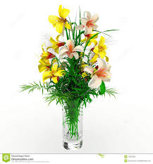 blooming flower arrangement in vase stock photo image 28313240