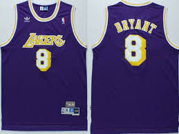 mitchell and ness lakers 8 kobe bryant stitched purple throwback