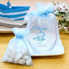 baby shower gift bags captivating looked white blue transparant theme with baby design