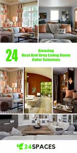 livingroom color schemes 24 amazing rust and grey living room color schemes 24 spaces