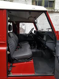 new land rover defender interior 1988 land rover defender 90 low mileage olivers classics