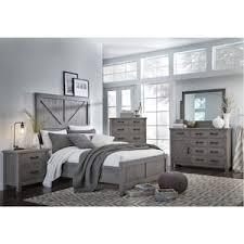 Rustic King Bedroom Sets - austin 4 piece king bedroom set in rustic grey nebraska