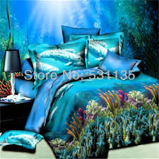 Girls Ocean Bedding by Ocean Bedspread Dolphins Animal Blue Ocean Bedding Sets 4pcs