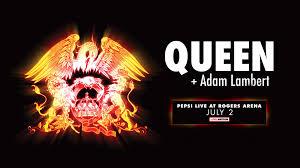 queen adam lambert rogers arena