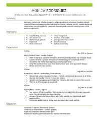 Skills For Cashier Resume Cashier Cv Example For Sales Livecareer