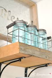 gracious diy reclaimed wood kitchen shelves easy woodworking