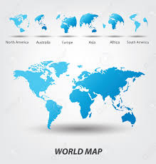 Europe World Map by World Map Vector Illustration Royalty Free Cliparts Vectors And