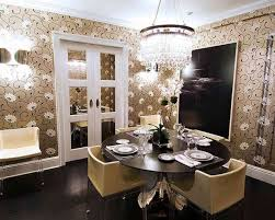 silver and gold dining room home design ideas