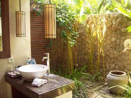 outdoor bathrooms ideas the outdoor living pavilions are for the balinese climate