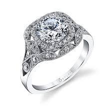 Vintage Style Cushion Cut Engagement Rings Antique Halo Engagement Rings Wedding Promise Diamond