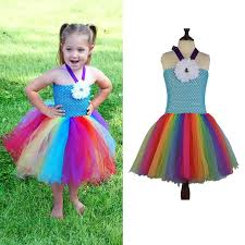 cheap summer dresses 2017 new baby fluffy rainbow tutu dress summer dresses