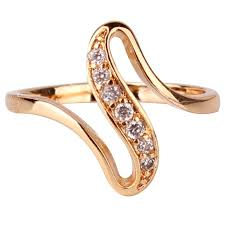 size 7 13 2015 new 18k plated classic gold men rings black 2016 cheap women finger rings 18k gold plated engagement wedding