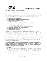 free business plan template samples and templates sample pdf of t
