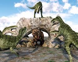 wall murals photo wallpaper dinosaurs attacking ohpopsi dinosaurs attacking wall mural