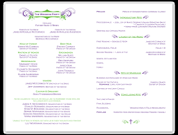 sle wedding programs outline sle of wedding ceremony wedding ideas 2018