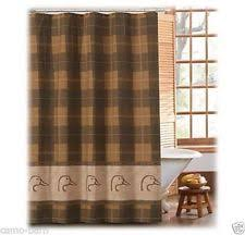 plaid country shower curtains ebay