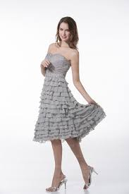 2017 selling short mini silver chiffon ruffles cocktail party