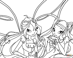 bloom and stella coloring page free printable coloring pages