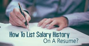 How To Hand In Resume How To List Salary History On Resume 16 Best Tips Wisestep