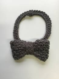crochet pattern woven dressy bow tie for babies boys and