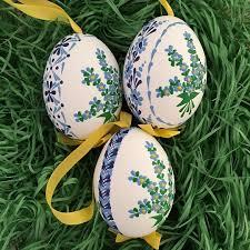 blown egg ornaments eastern european easter eggs