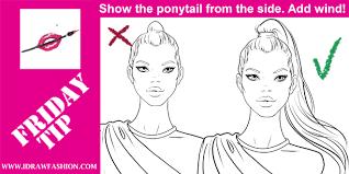 how to draw a ponytail i draw fashion