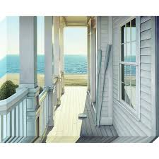 Frameless Photo Shop 38 In W X 30 In H Frameless Canvas Coastal Wall Art At Lowes Com