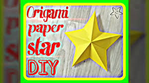 diy easy origami 3d paper star for kids 5 minutes craft youtube