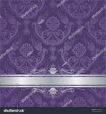 luxury purple victorian style floral damask stock vector 438829063