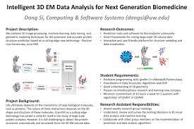 si e du s at intelligent 3d em data analysis for generation biomedicine uw