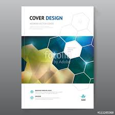 cover layout com blue annual report leaflet brochure flyer template a4 size design